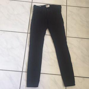 L'agence Chantal low rise black jeans 25